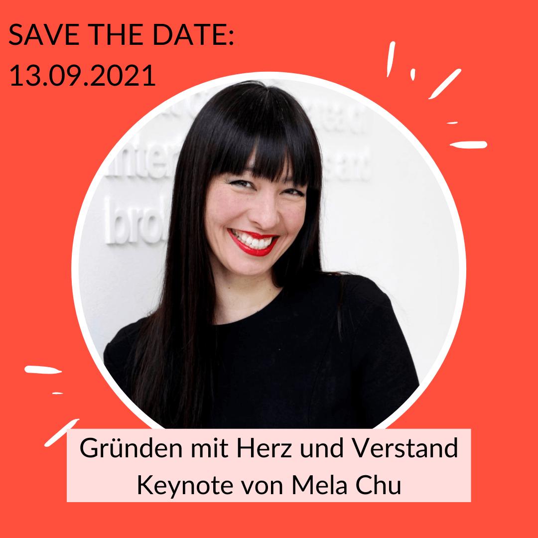 Keynote Mela Chu: Gründen mit Herz und Verstand