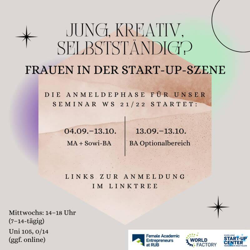 Jung, kreativ, selbstständig? Frauen in der Start-up-Szene